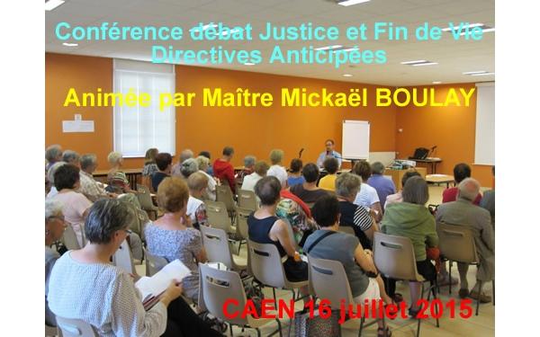 Conférence débat : La justice face à la Fin de Vie et les Directives Anticipées